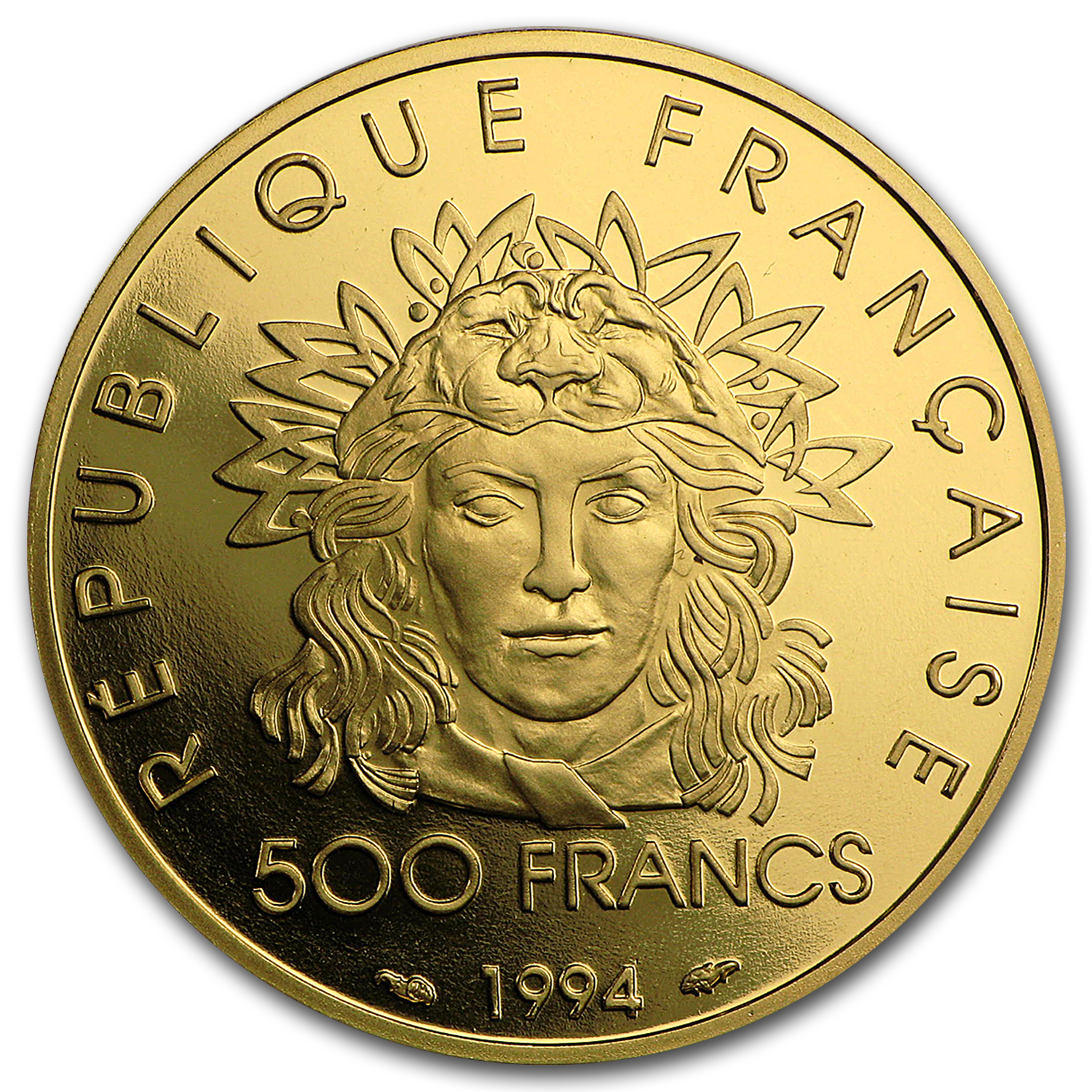 1994 France Proof Gold 500 Francs Olympics