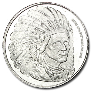 1 oz Silver Rounds - American Medallion Series (Indian)
