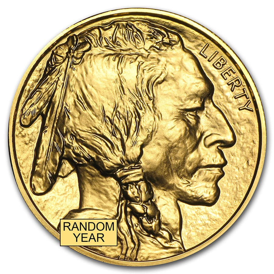 1 oz Gold Buffalo BU (Random Year)