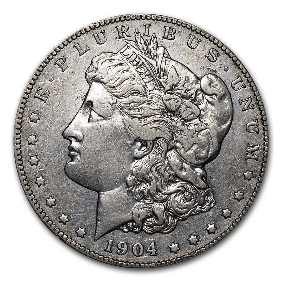 1904-S Morgan Dollar XF Details (Cleaned)