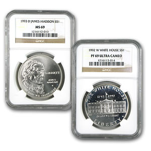 U.S. Mint $1 Silver Commem MS/PF-69 NGC