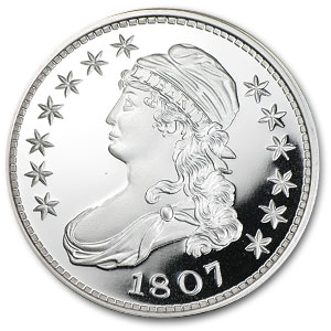 2 oz Silver Round - Draped Bust Half Dollar (Replica)