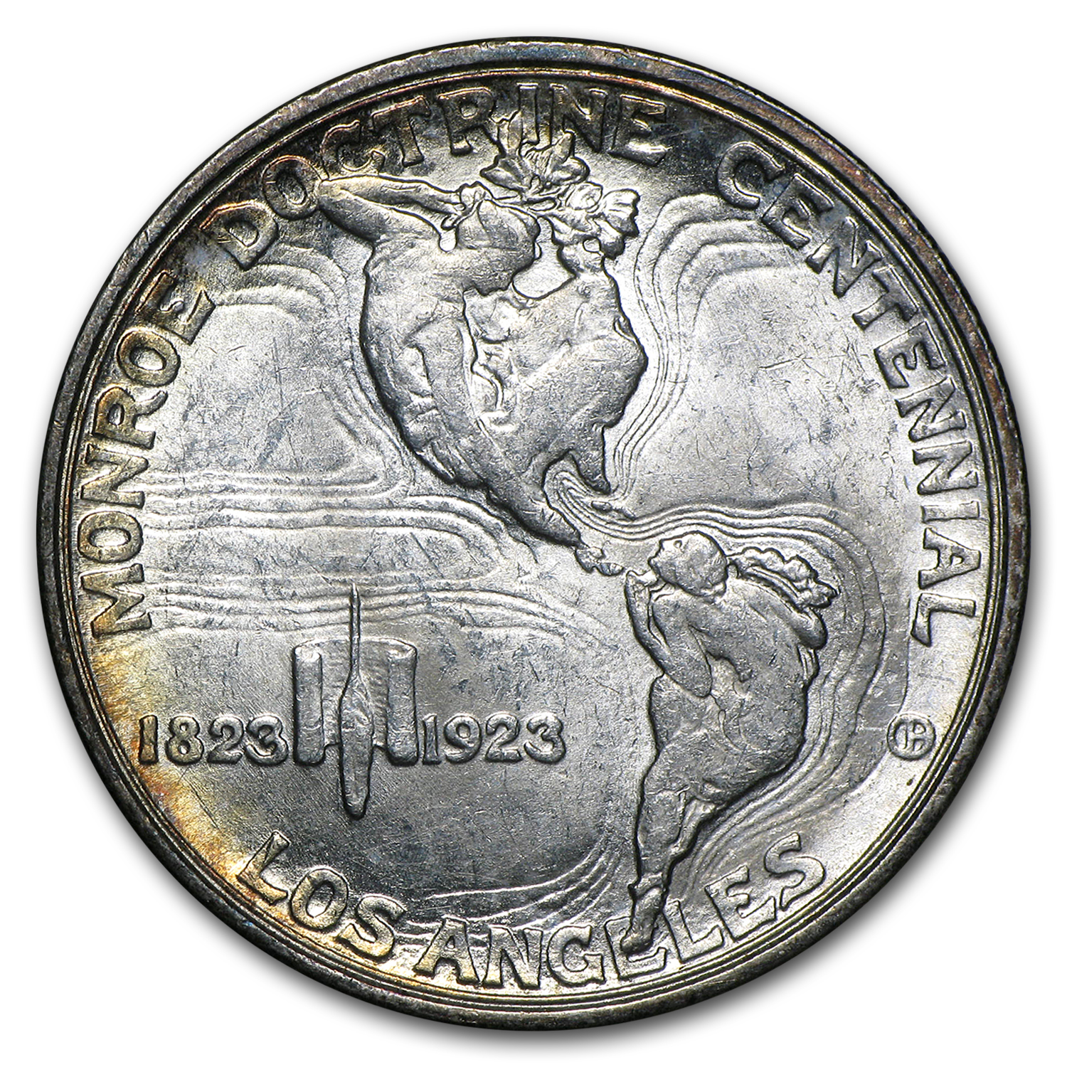 1923-S Monroe Doctrine Commemorative Half AU