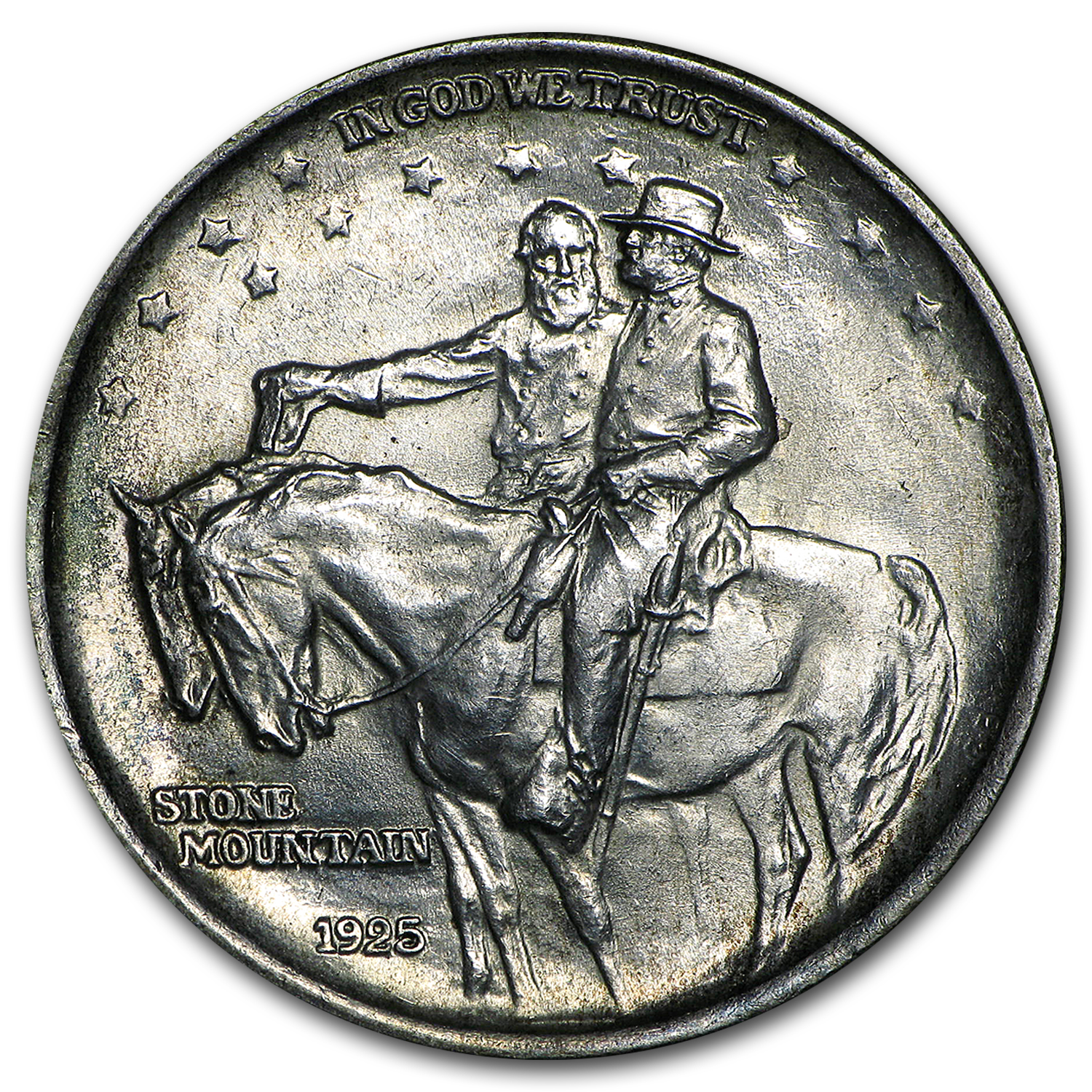 1925 Stone Mountain Half Bu Early Us Silver