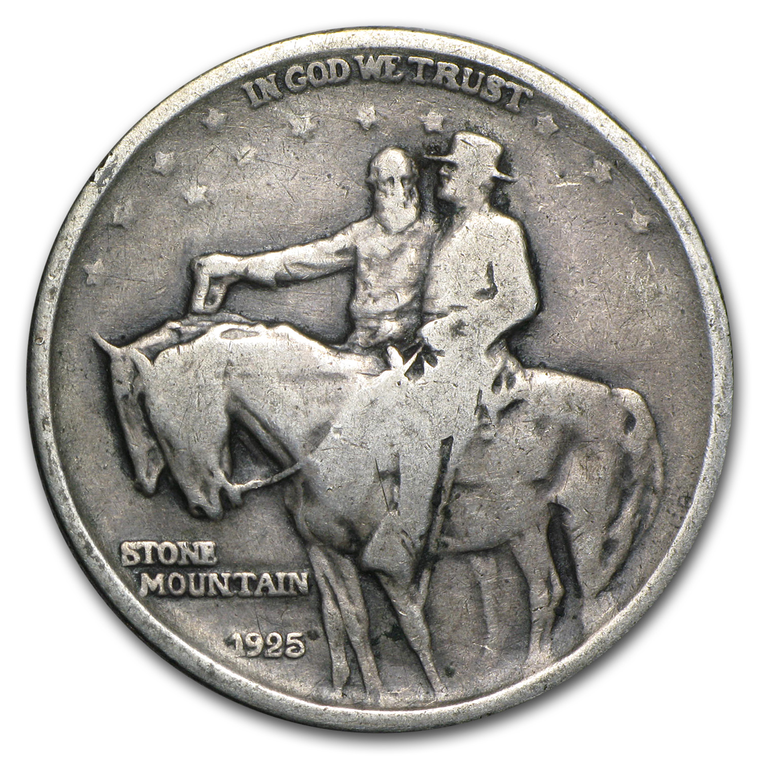 1925 Stone Mountain Commem Half Avg Circ