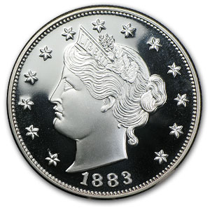 2 oz Liberty Head Nickel (Replica) Silver Round .999 Fine