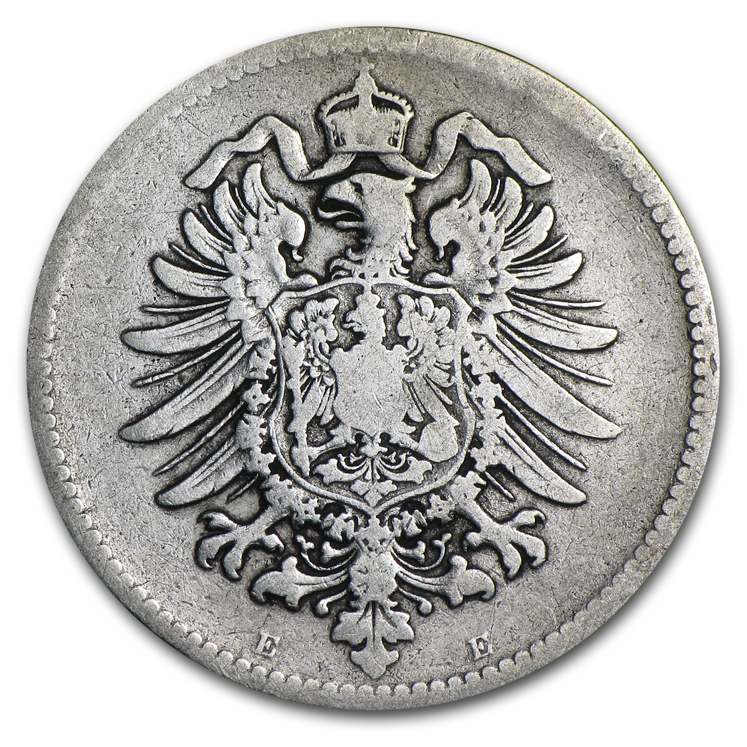Germany 1874-E Mark Silver Very Fine