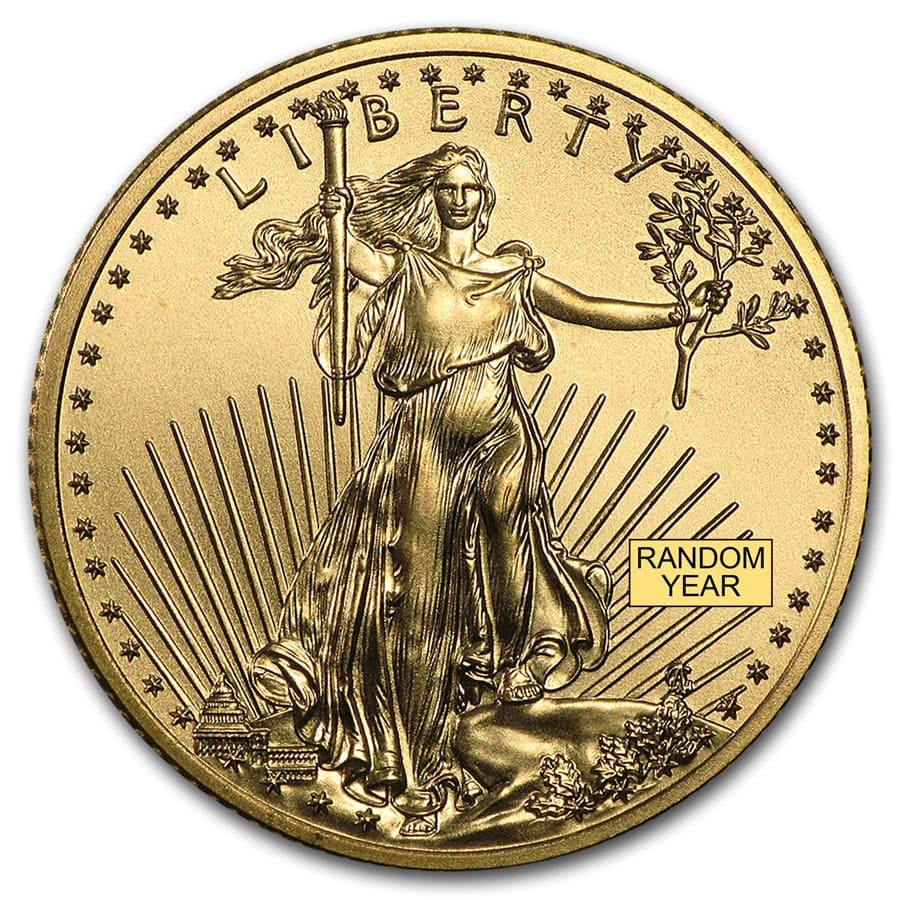 1/4 oz Gold American Eagle BU (Random Year)