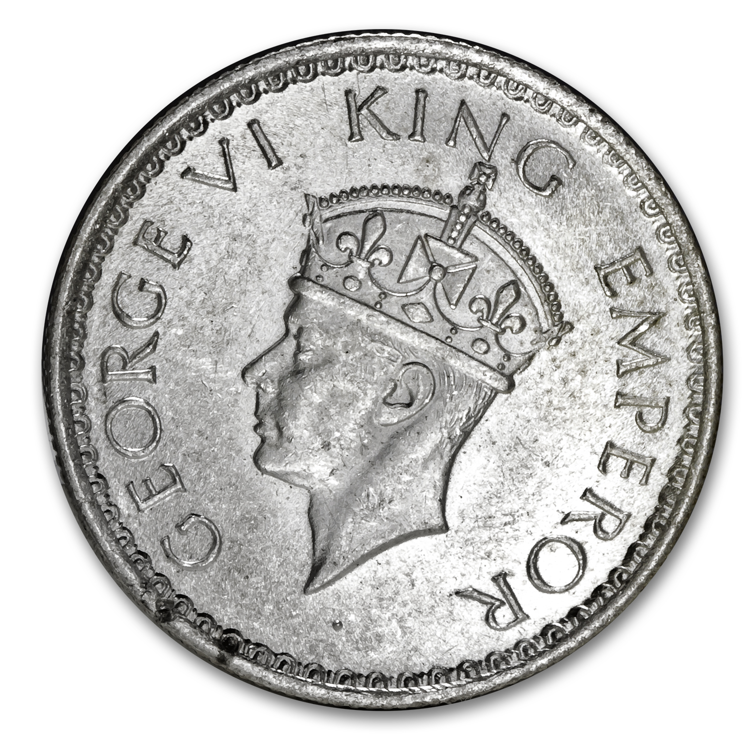India 1940 1/2 Rupee Silver Uncirculated George V
