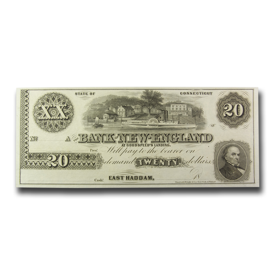 18__ Bank of New England, East Haddam CT $20.00 Note CT-110 CU