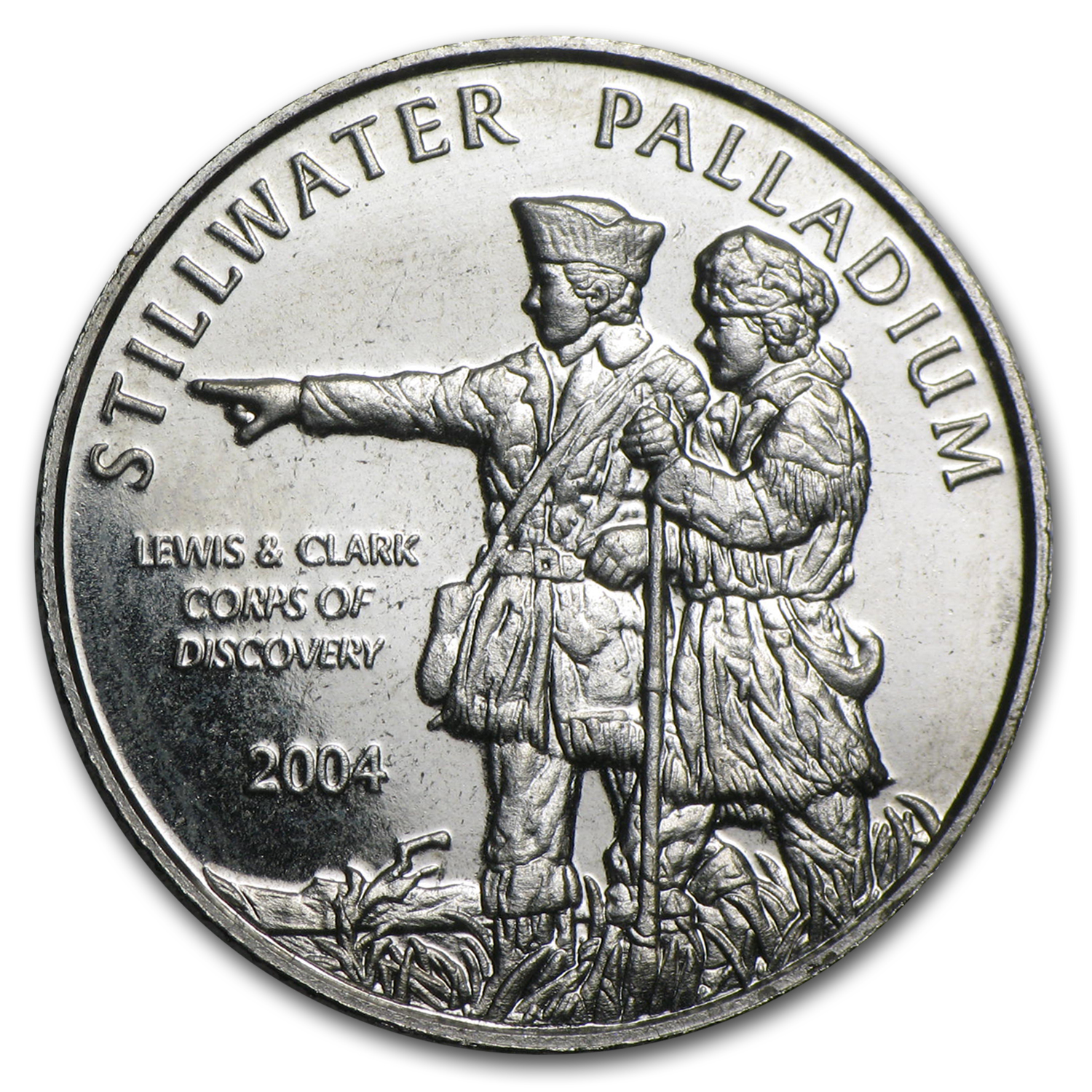 1/10 oz Palladium Round - Johnson Matthey Lewis & Clark (Single)