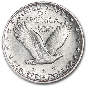1917 (Type II) AU Standing Liberty Quarter