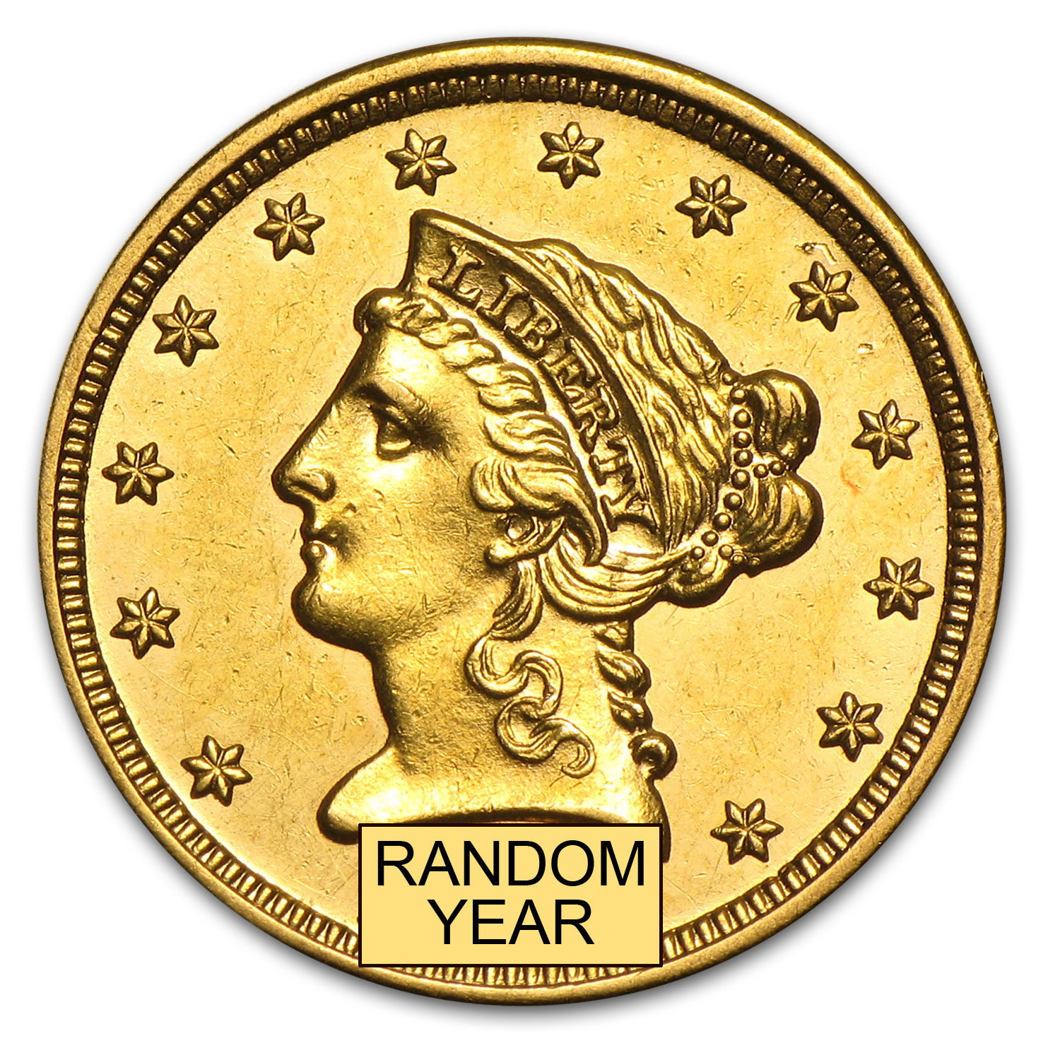 $2.50 Liberty Gold Quarter Eagle AU (Random Year)