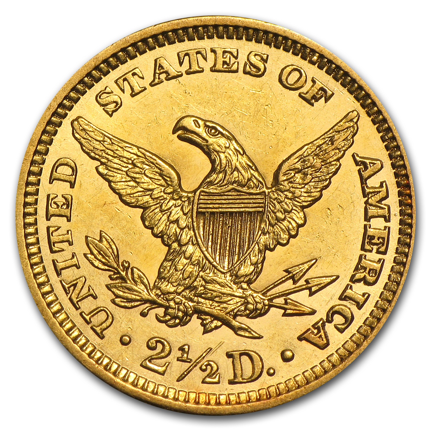 $2.50 Liberty Gold Quarter Eagle Almost Uncirculated