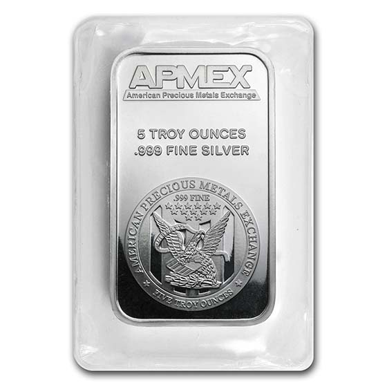 5 oz Silver Bar - APMEX