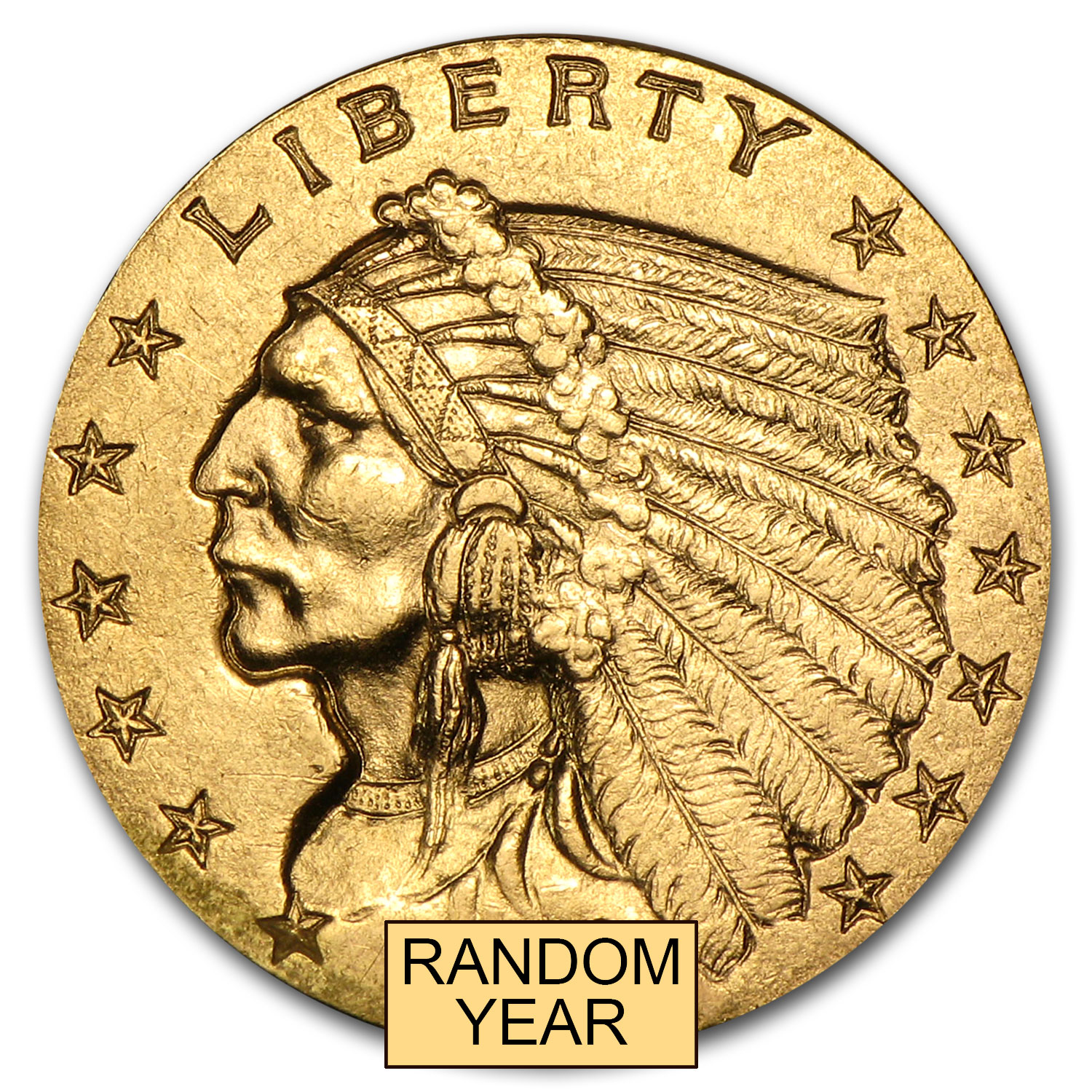 $2.50 Indian Gold Quarter Eagle XF (Random Year)