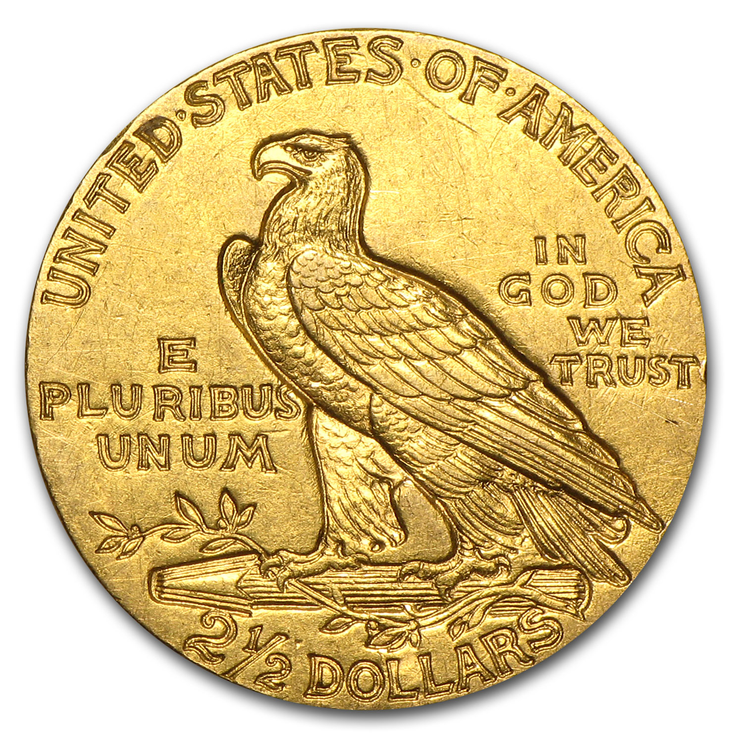 $2.50 Indian Gold Quarter Eagle Almost Uncirculated