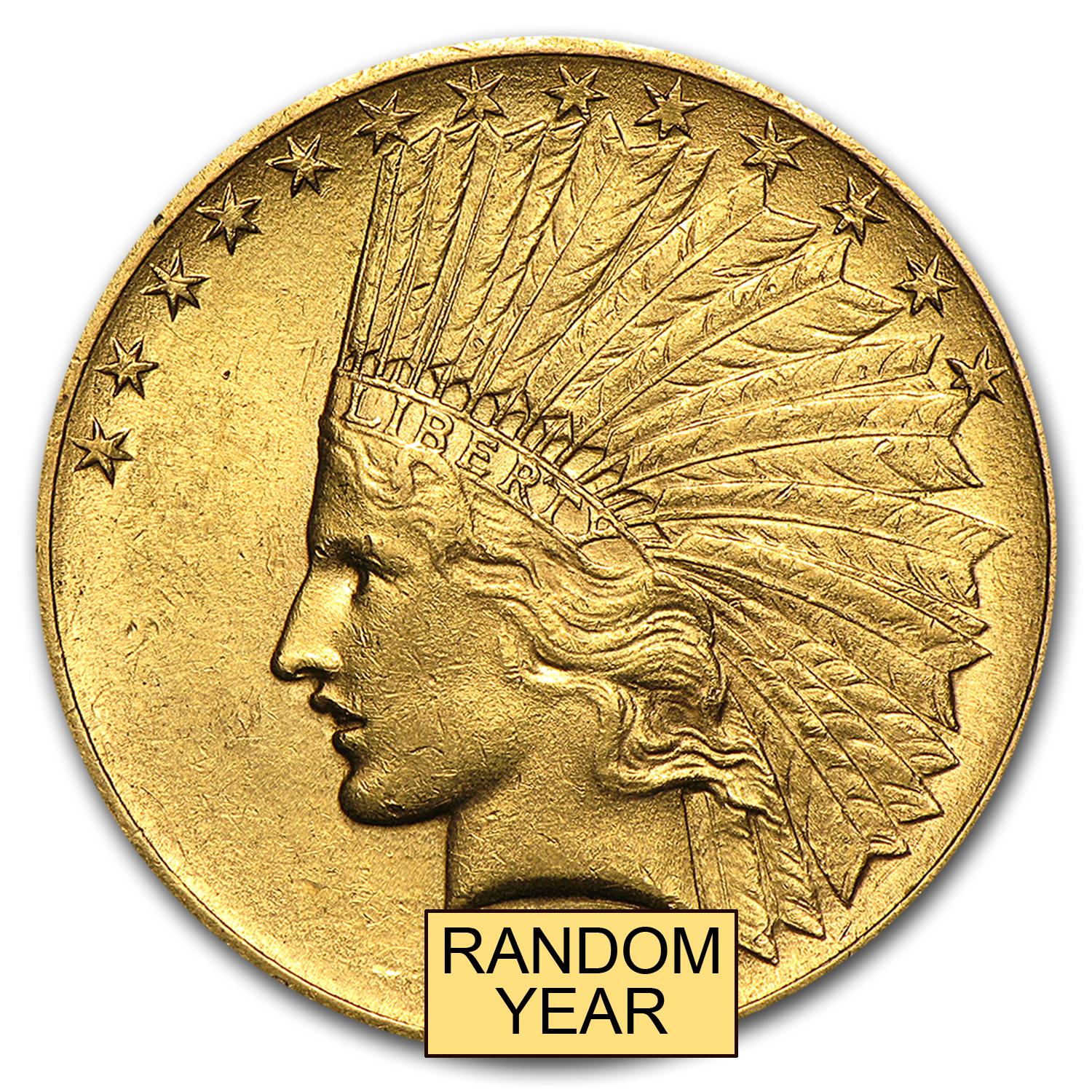 $10 Indian Gold Eagle AU (Random Year)
