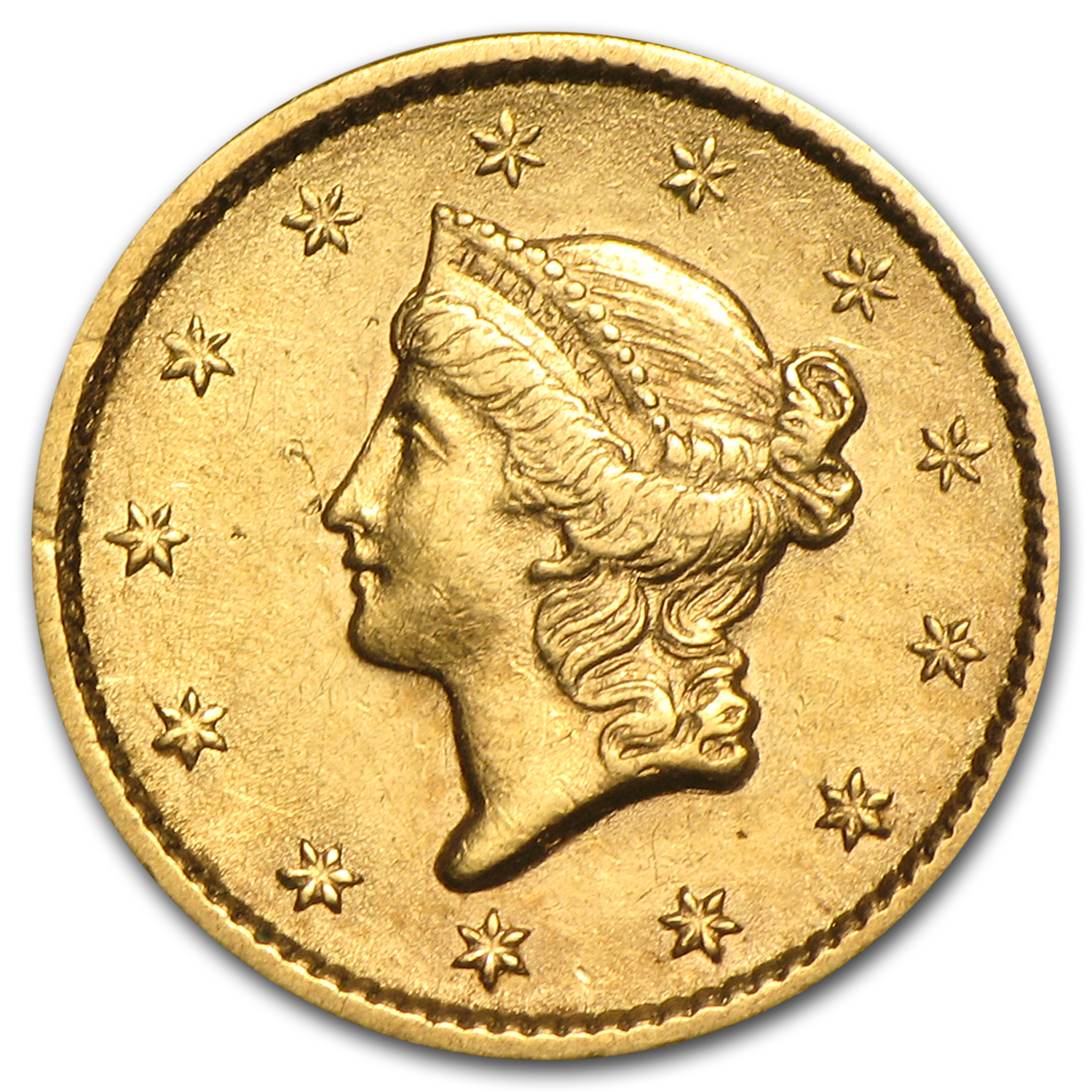 $1 Liberty Head Gold - Type 1 - Extra Fine