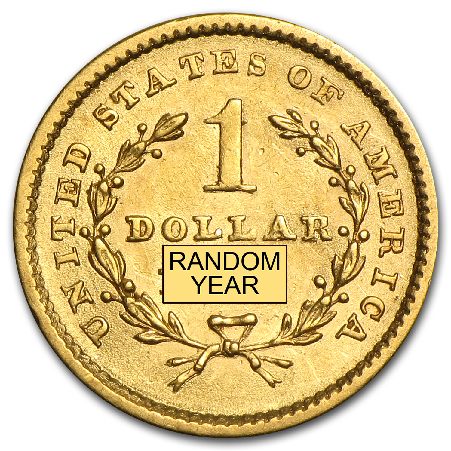 $1 Liberty Head Gold Type 1 XF