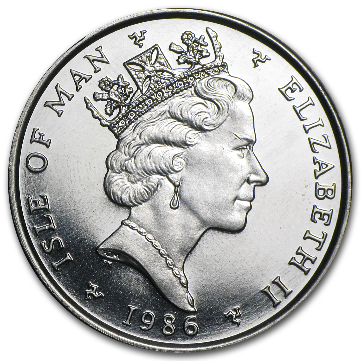 1986 Isle of Man 1 oz Platinum Noble BU (Pobjoy Mint)