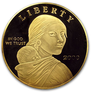 4 oz Silver Round - Sacagawea Dollar (Proof)