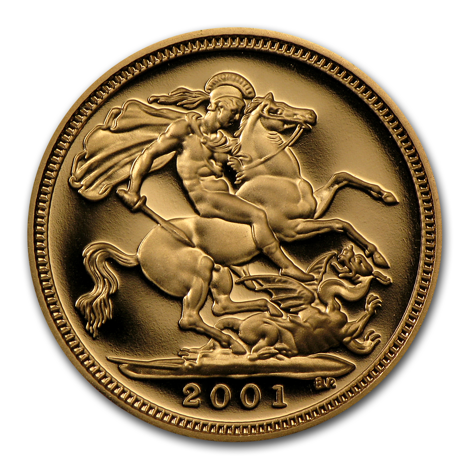 1980-2014 Great Britain Gold 1/2 Sovereign Elizabeth II BU/Proof