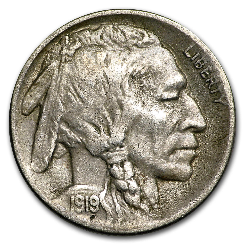 1919 S Buffalo Nickel Au Buffalo Nickels 1913 1938