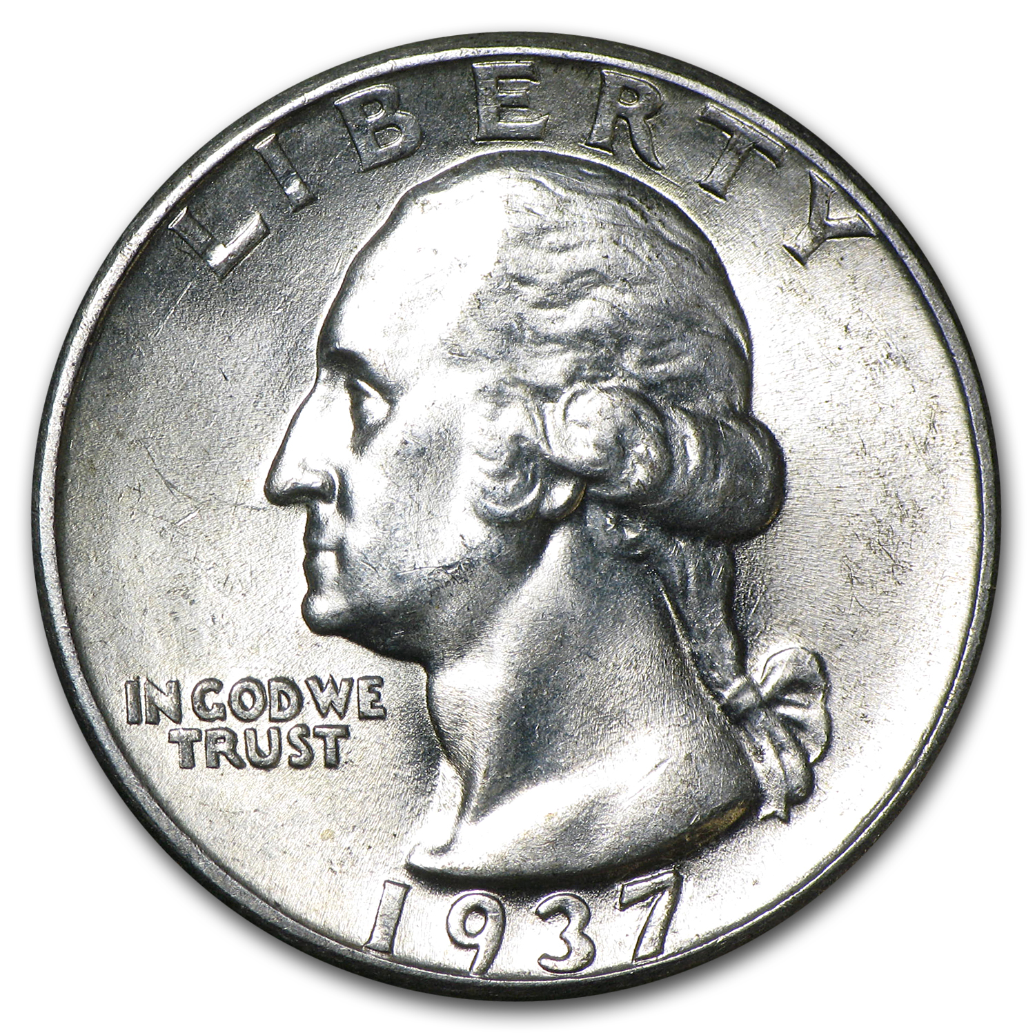 1937 Washington Quarter BU