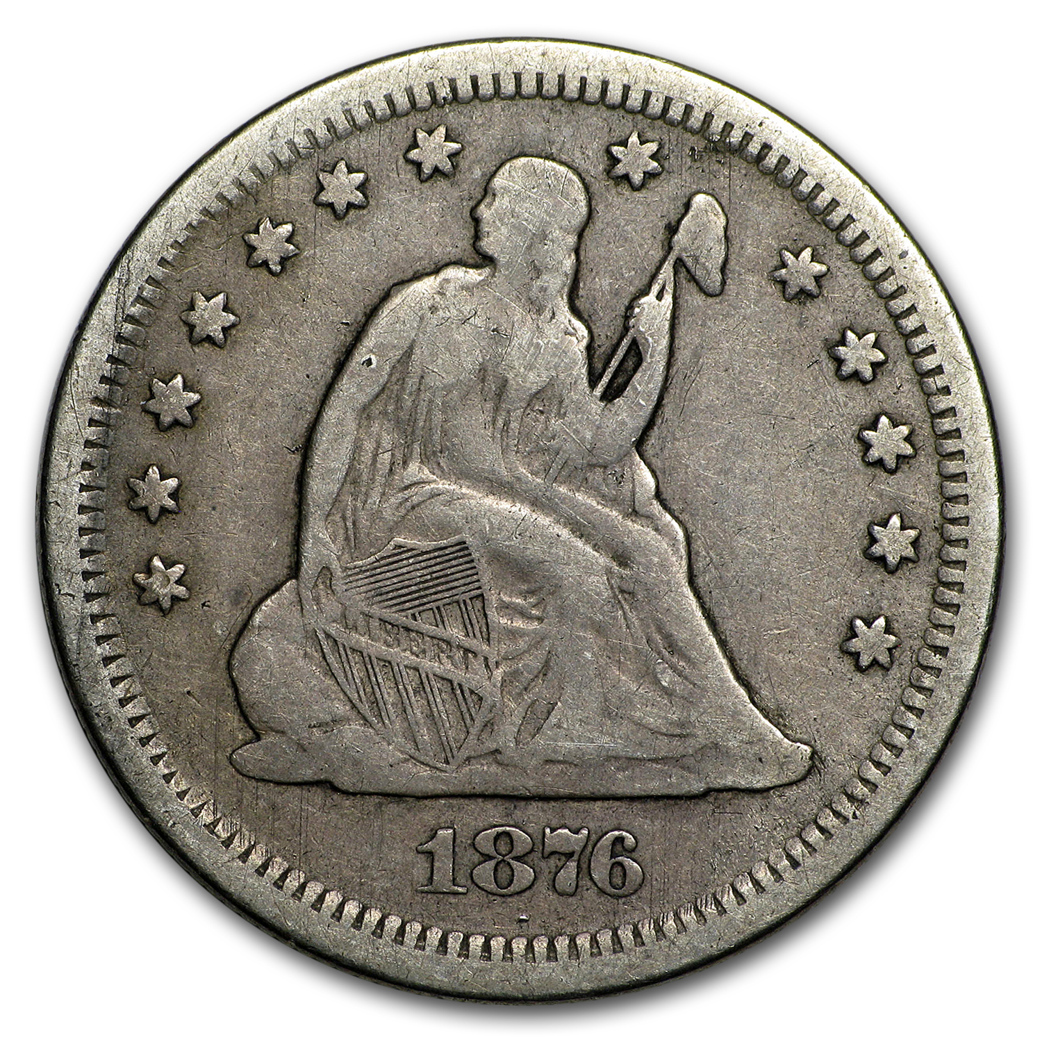 1876 S Liberty Seated Quarter Vf Liberty Seated Quarters