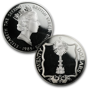 British Virgin Islands 1985 20 Dollars Silver Proof Details