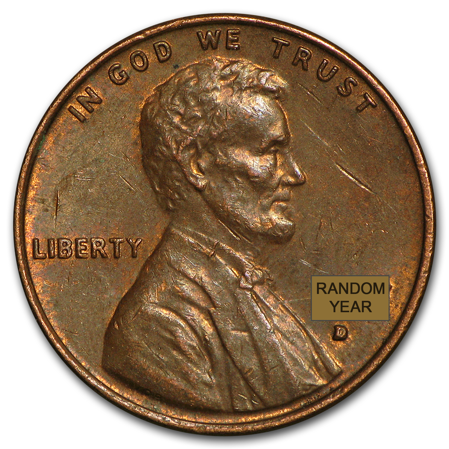 1959-1982 Copper Lincoln Cent 5000 Coin Bag ($50 FV)