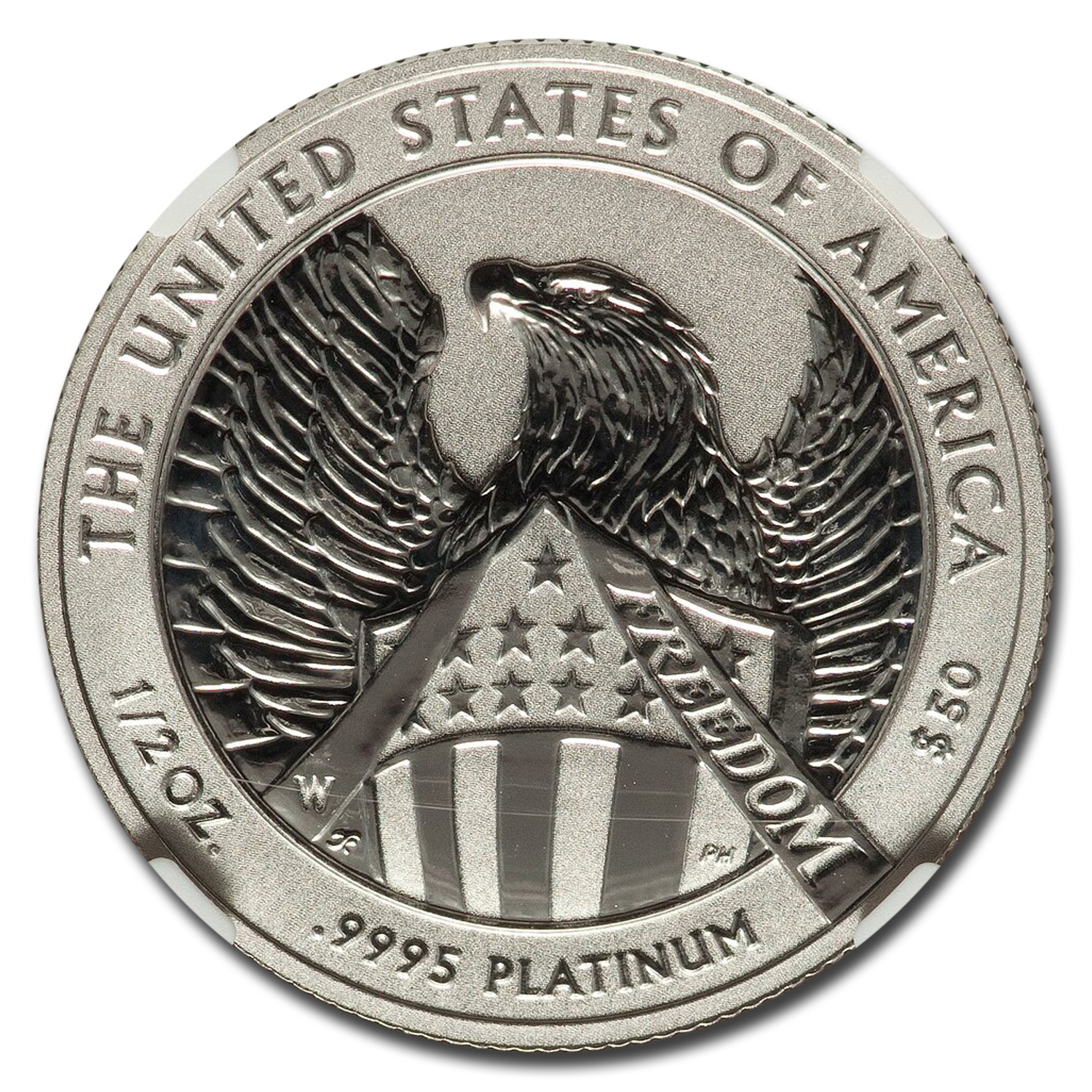 2007-W 1/2 oz Reverse Proof Platinum Eagle PF-70 NGC (10th Anniv)