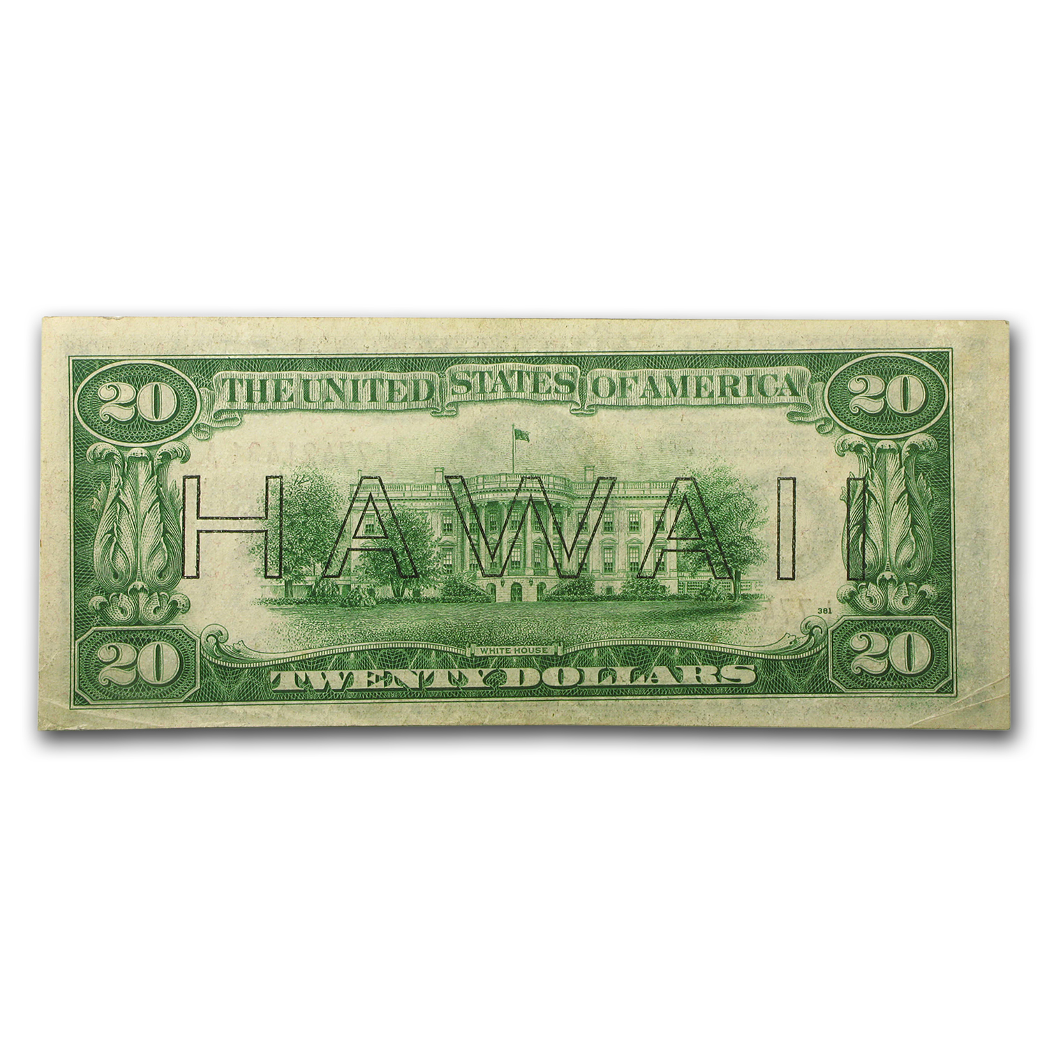 1934-A $20 Brown Seal Hawaii AU