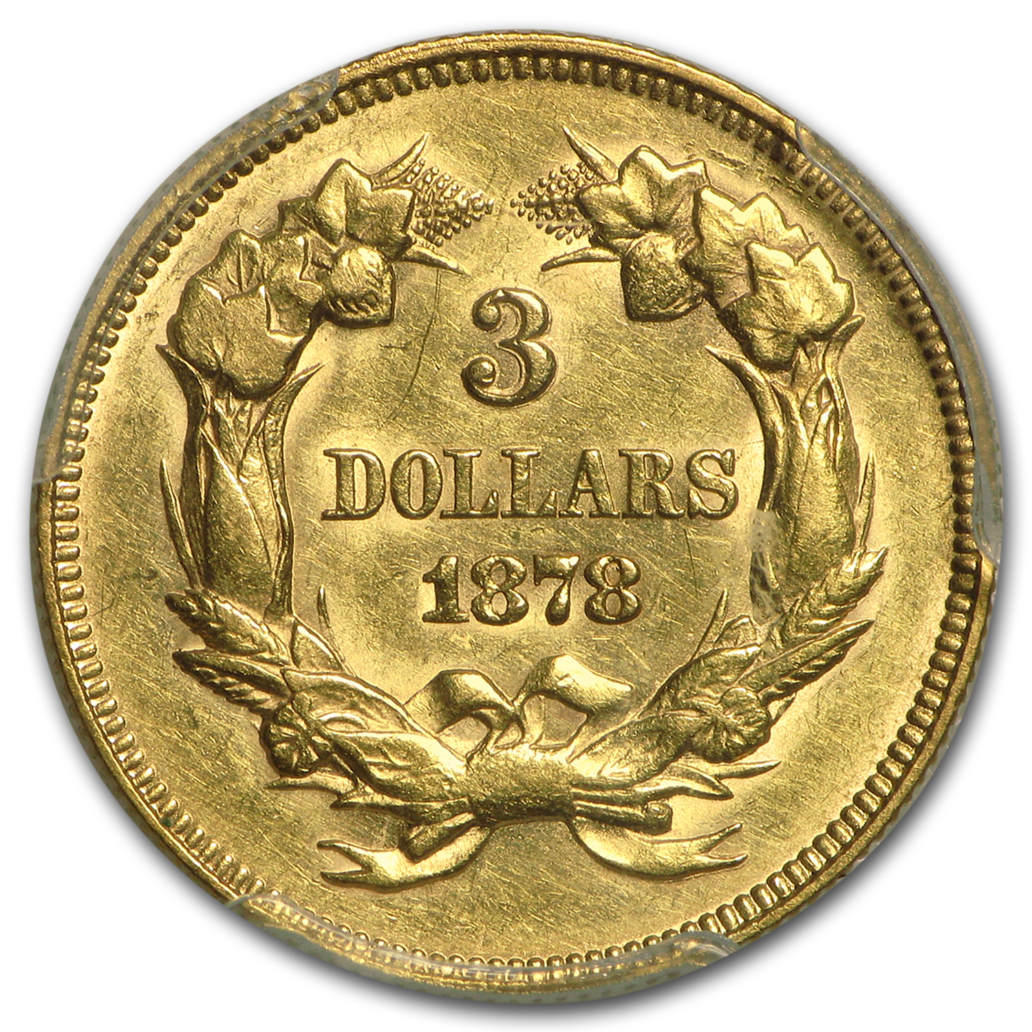 1878 $3 Gold Princess AU-55 PCGS