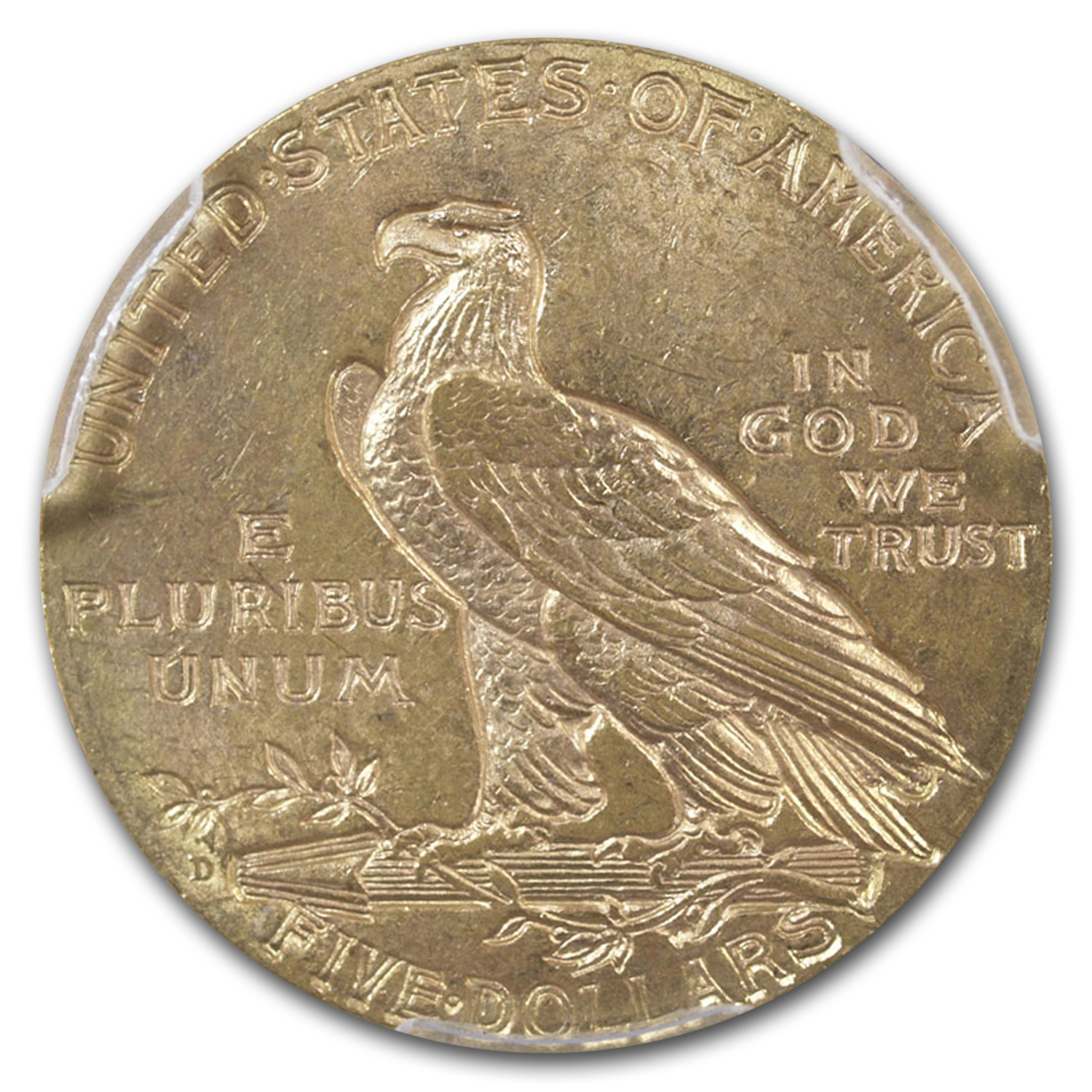 1908-D $5 Indian Gold Half Eagle MS-63 PCGS
