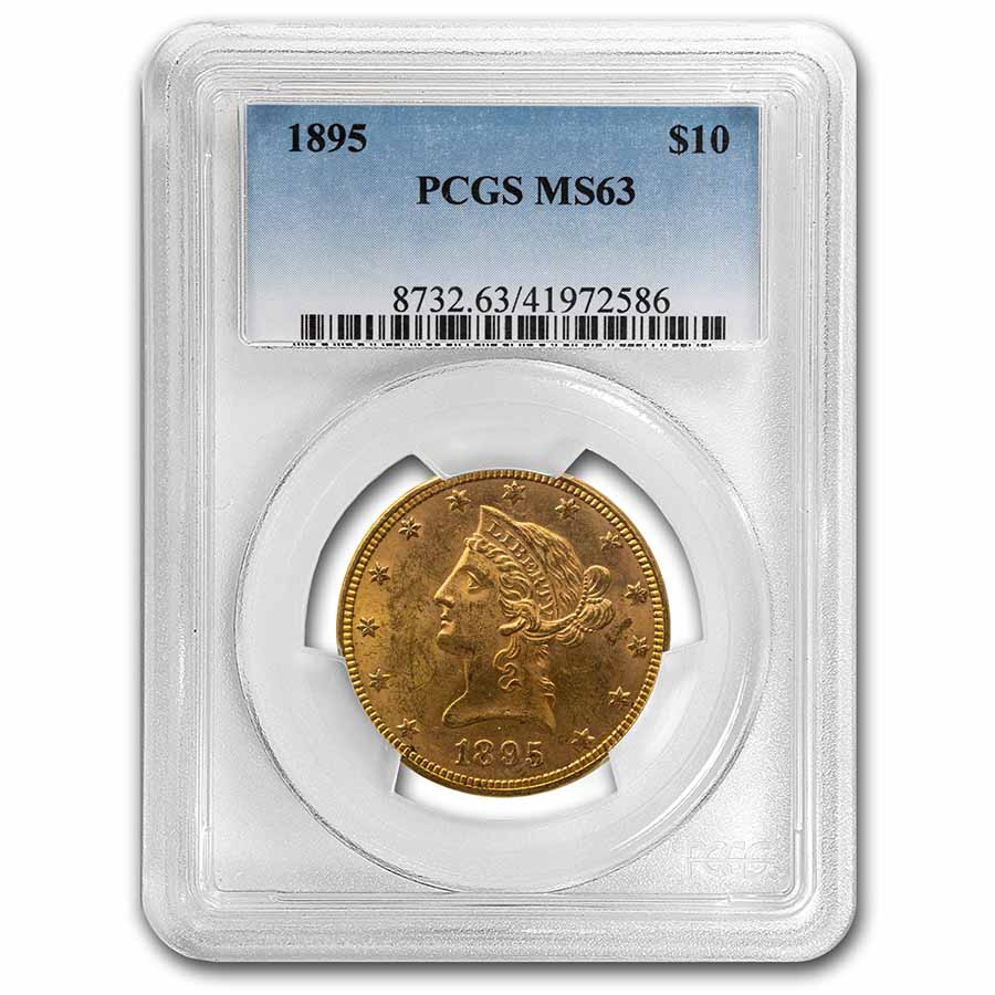 1895 $10 Liberty Gold Eagle MS-63 PCGS