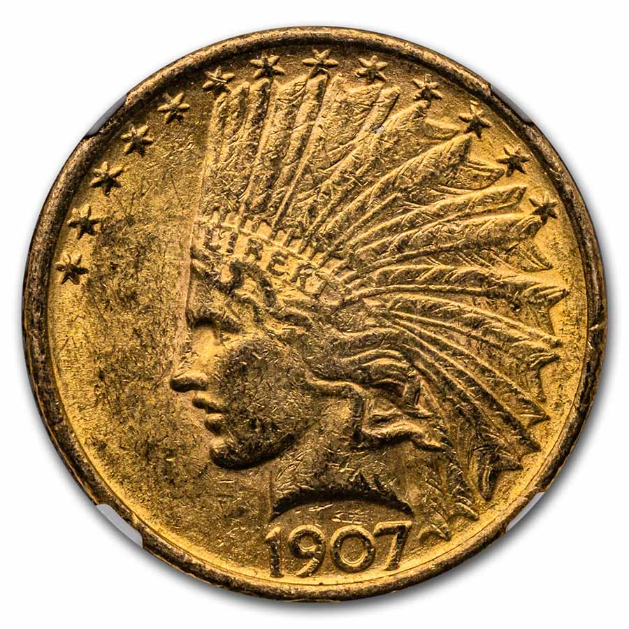 1907 $10 Indian Gold Eagle - MS-62 NGC First Year of Issue!
