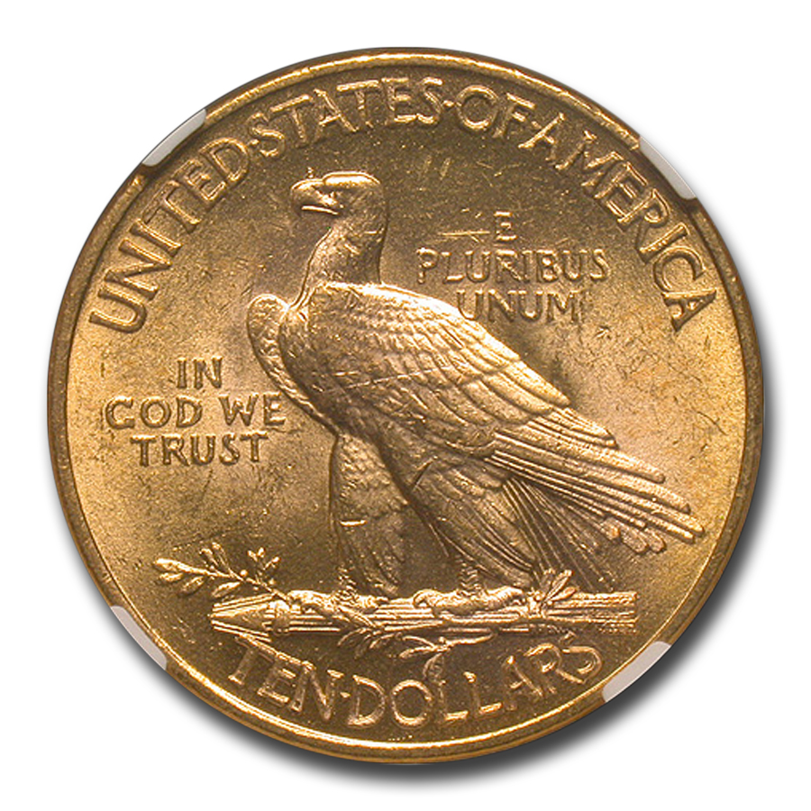 1913 $10 Indian Gold Eagle MS-63 NGC