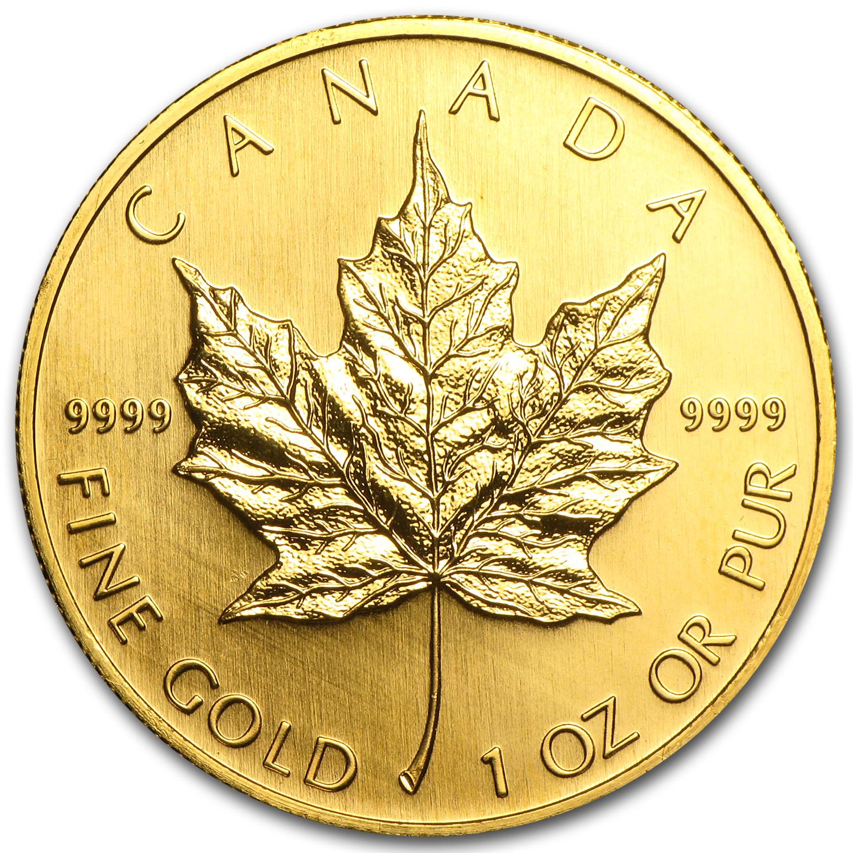 2004 Canada 1 Oz Gold Maple Leaf Bu 1 Oz Gold Maple