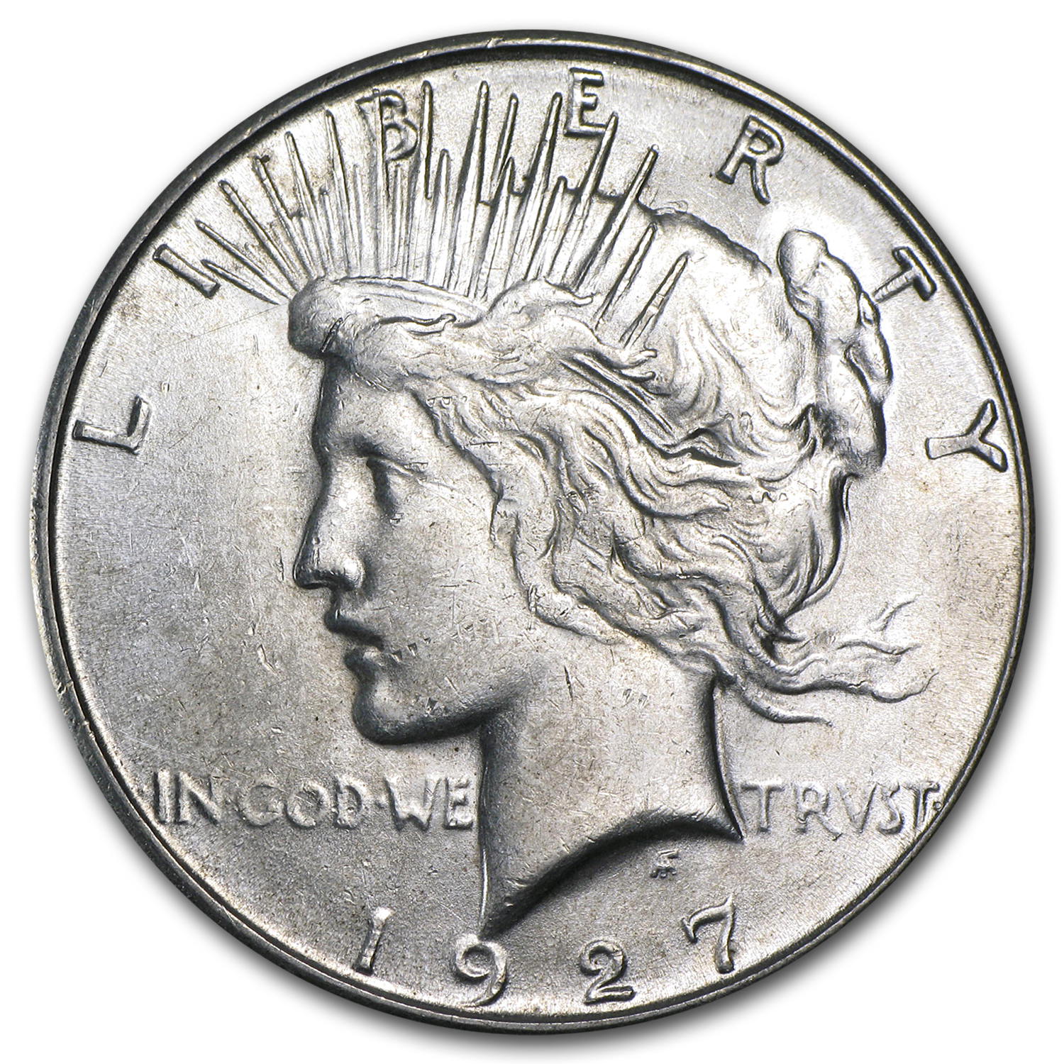 1927-S Peace Dollar - Almost Uncirculated