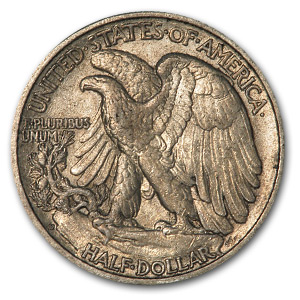 1937-D Walking Liberty Half Dollar AU-55