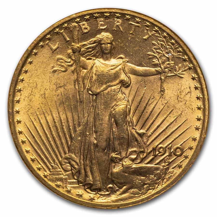 1910 $20 St. Gaudens Gold Double Eagle MS-63 NGC
