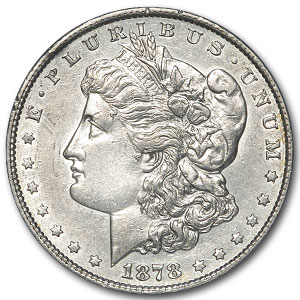 1878 Morgan Dollar 8 TF AU (VAM-14.3)