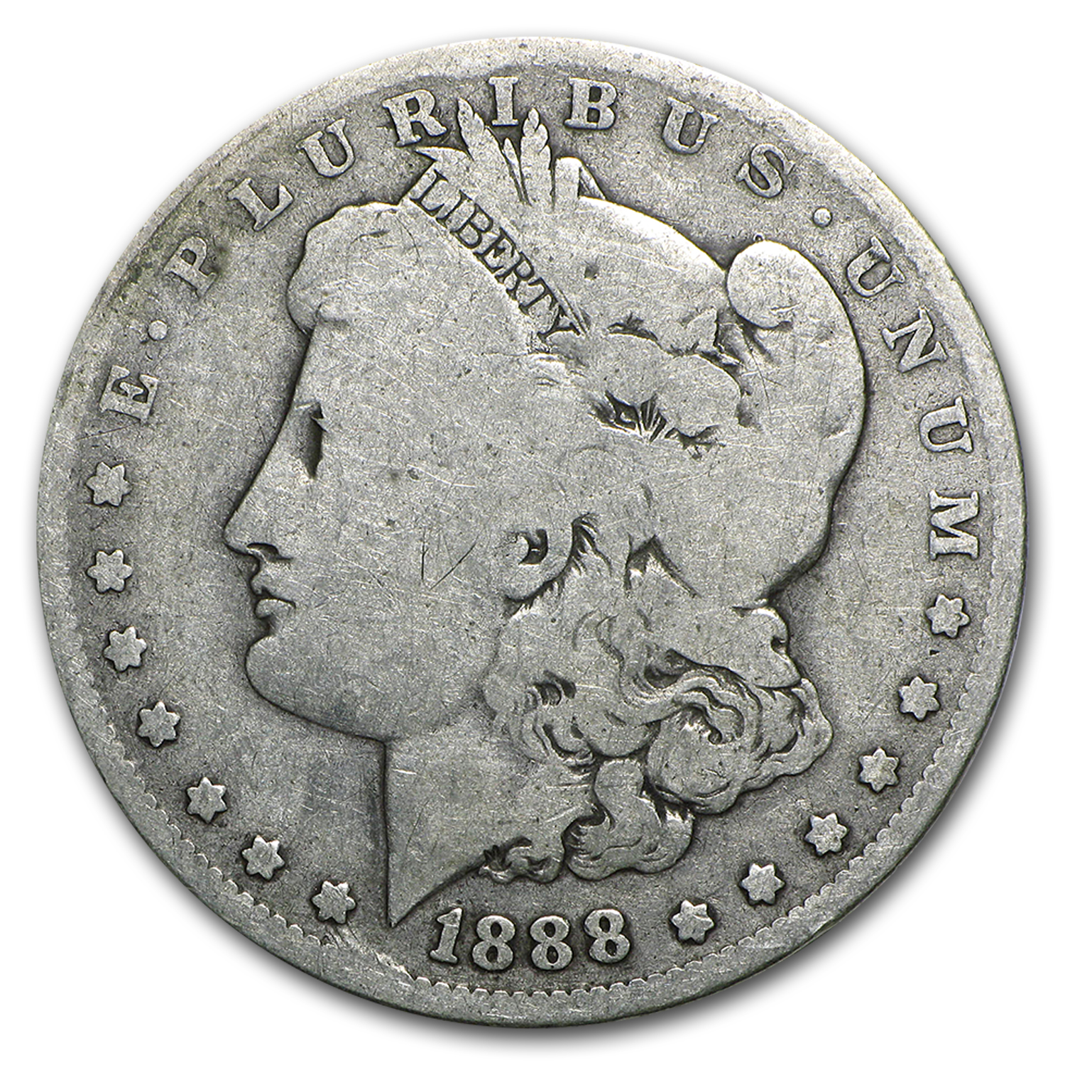 1888-O Morgan Dollar AG (VAM-7A, Shooting Star)