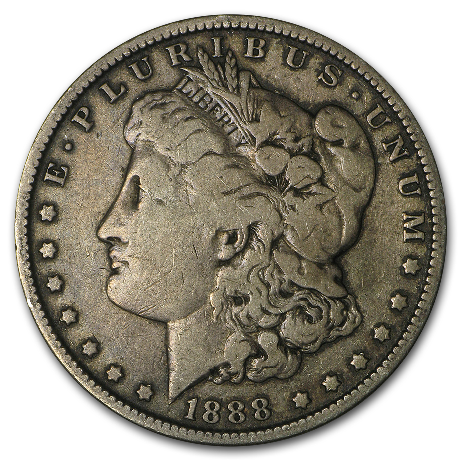 1888-O Morgan Dollar Fine (VAM-4, Hot Lips, Doubled Die, Top-100)