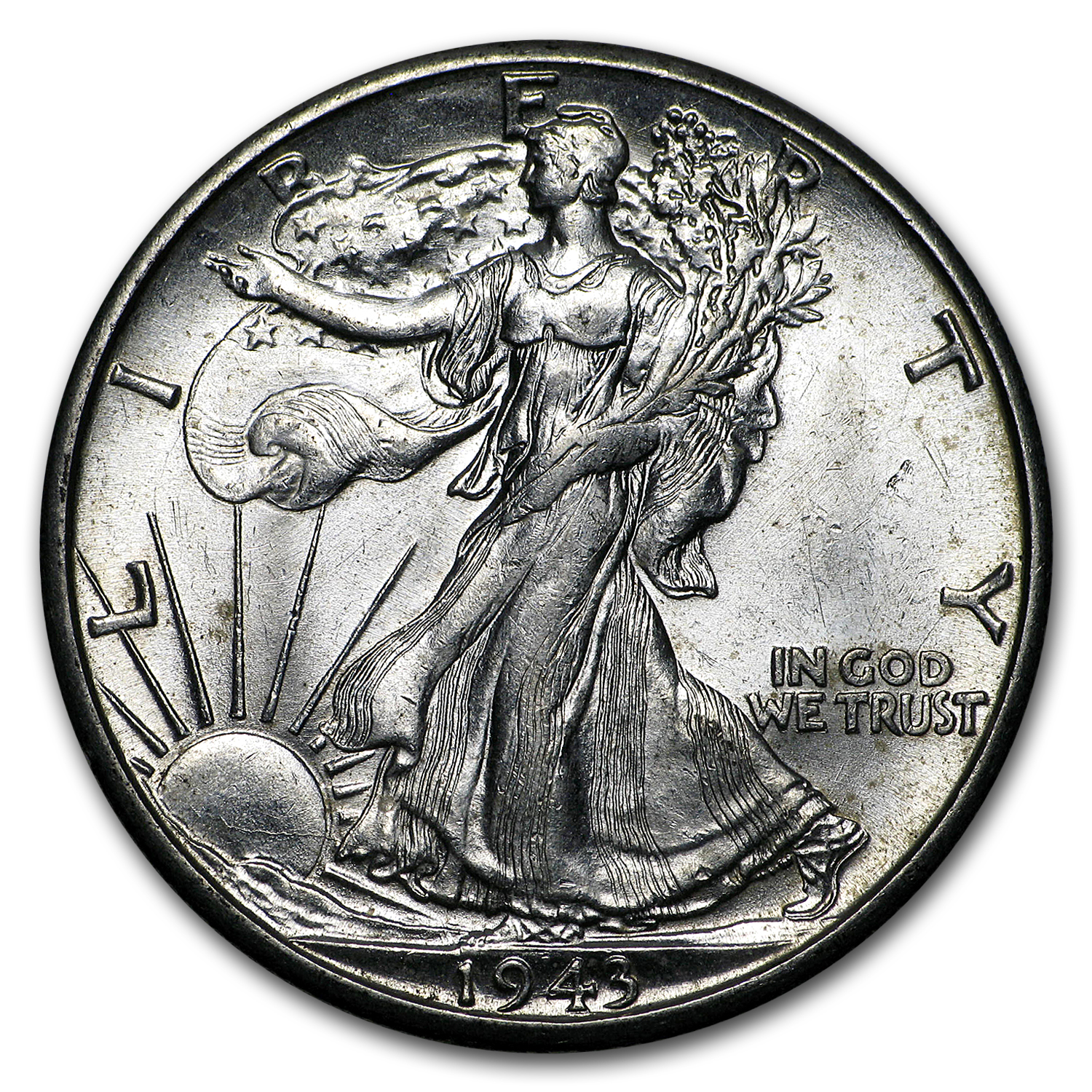 1943-D Walking Liberty Half Dollar BU