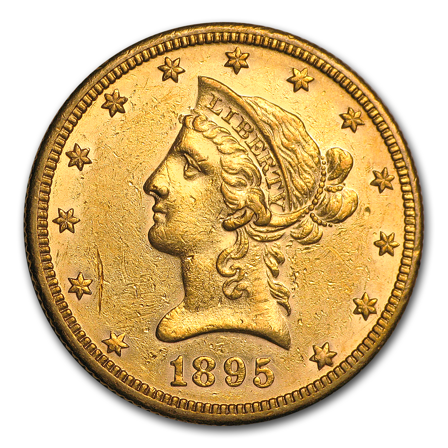 1895-O $10 Liberty Gold Eagle AU
