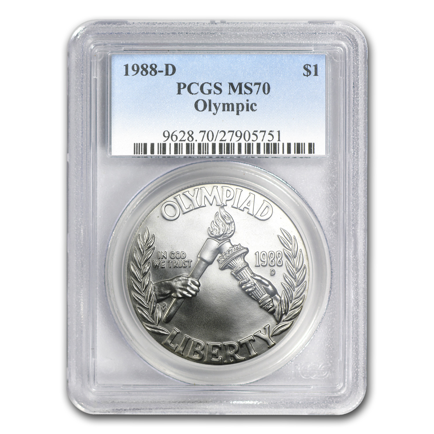 1988-D Olympic $1 Silver Commem MS-70 PCGS