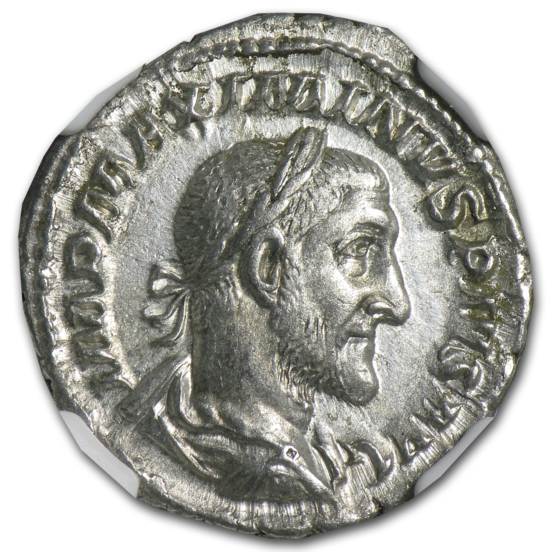 Roman Silver Denarius Maximinus I Ch Xf Ngc 235 238 Ad